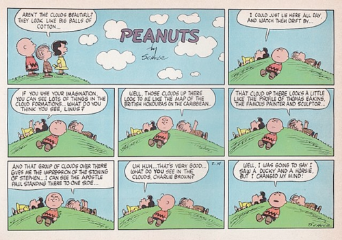 peanuts clouds