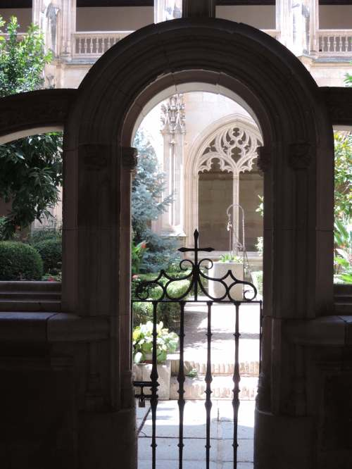 gate to cloister